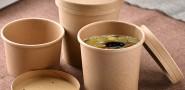 frei Baum Pappbecher, Zuckerrohr Pappbecher, Baggasse Pappbecher, kundenspezifische Druck Pappbecher