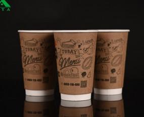 kraft hot paper cups