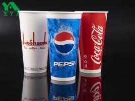 kaltem Trinkwasser Pappbecher, Kälte Pappbecher, Coca Cola Cup, Einwegkaffeetasse, Doppel PE Cups