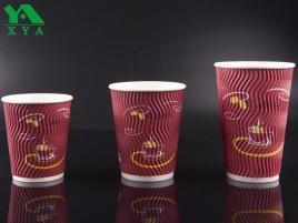 tazas ondulación pared de papel, vasos de papel corrugado, papel taza caliente, vasos para uso industrial, tazas de café caliente