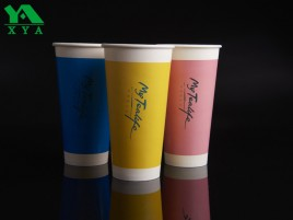 tazas de barro revestida de papel, vasos de papel personalizados, tazas calientes de papel, vasos, copas partido expendedoras