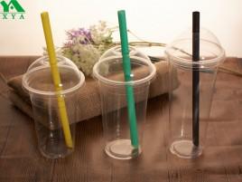 klare Plastikbecher, kalte klare Tasse, Kunststoff Kaltschalen, Plastikbierschale, Smoothie Tasse